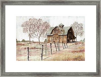 Old Crawford Colorado Barn Framed Print