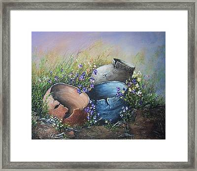 Old Crocks Framed Print by Theresa Jefferson
