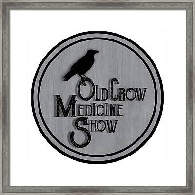 Old Crow Medicine Show Sign Framed Print