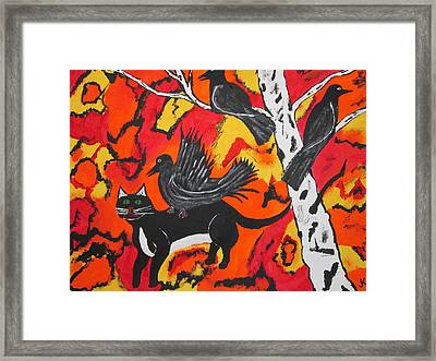 Old Crow Rodeo Framed Print