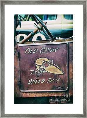Old Crow Speed Shop Framed Print by Tim Gainey