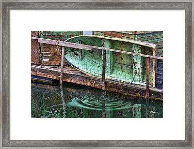 Old Crusty Dinghy Framed Print