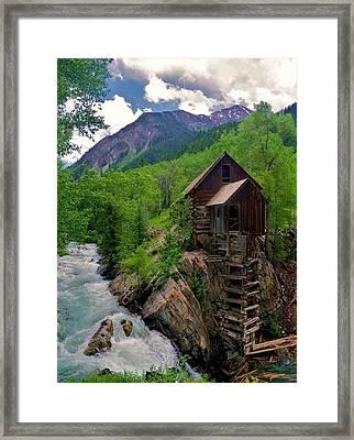 Old Crystal Mill Framed Print by Matt Helm