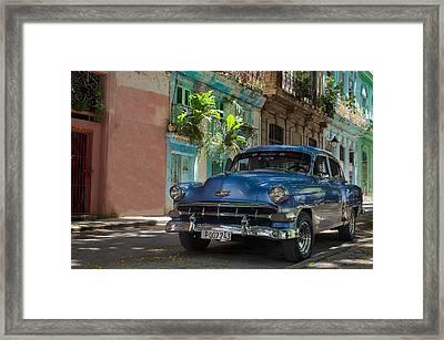 Old Cuban Car Framed Print by Blaz Gvajc