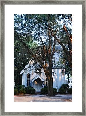 Old Cypress Church Framed Print by Margaret Palmer