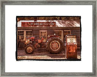 Old Days Vintage Framed Print by Debra and Dave Vanderlaan