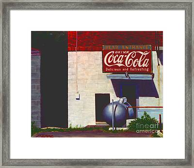 Old Deli Framed Print