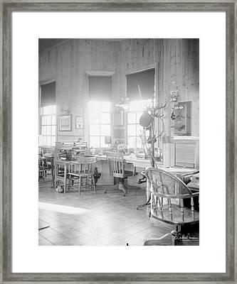 Old Depot Framed Print