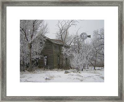 Old Deserted Farmstead Framed Print by Deena Keller