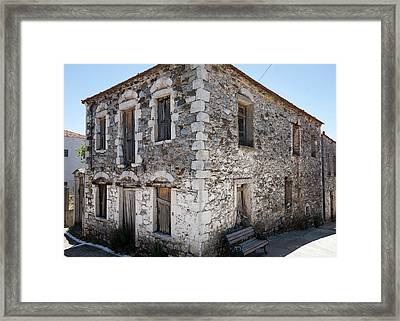 Old Deserted Village House In Greece Framed Print by Al Poullis