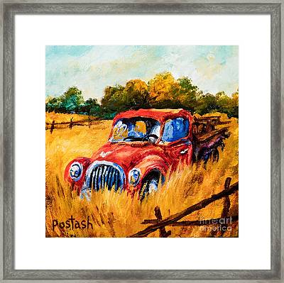 Framed Print featuring the painting Old Friend by Igor Postash