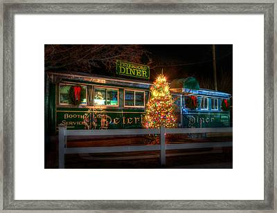 Old Diner Car - Peterboro Diner Framed Print by Joann Vitali