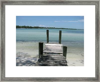 Old Dock Framed Print by Trisha Dahm
