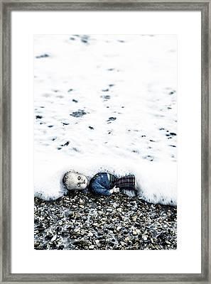 Old Doll On The Beach Framed Print by Joana Kruse