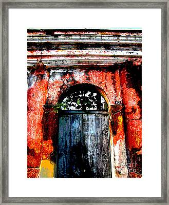 Old Door 1 By Darian Day Framed Print