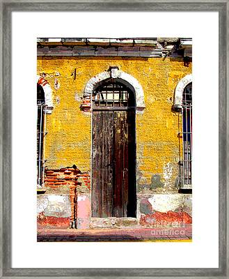 Old Door 2 By Darian Day Framed Print by Mexicolors Art Photography