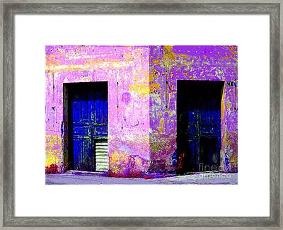 Old Door 3 By Darian Day Framed Print