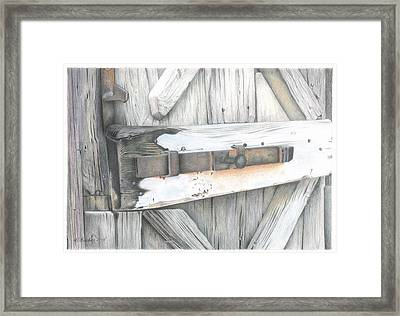 Old Door At Ravello Italy Framed Print by Wilfrid Barbier