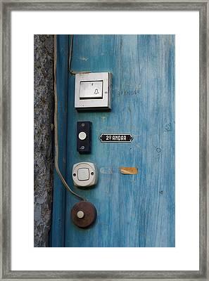 Old Door Bells Framed Print