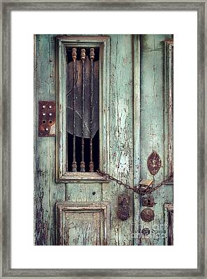 Old Door Detail Framed Print