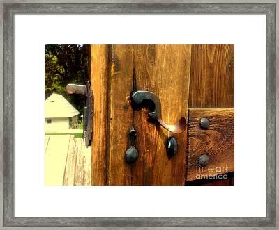 Old Door Handle Framed Print