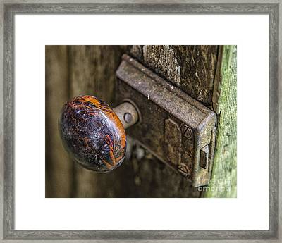 Old Door Knob Framed Print by JRP Photography