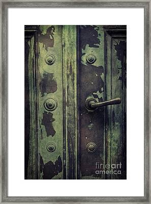 Old Door Framed Print by Mythja Photography