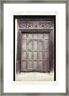Old Door Painting Framed Print by Tom Gowanlock