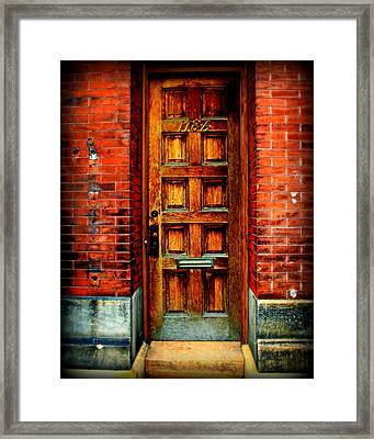 Old Door Framed Print by Perry Webster