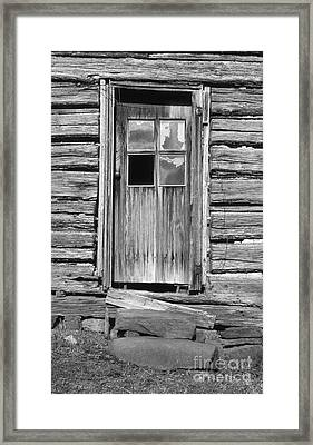 Old Door Framed Print by Richard Rizzo