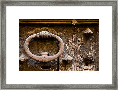 Old Door Rome Italy Framed Print by Xavier Cardell