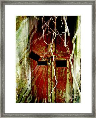 Old Door Set Two Haunted Framed Print by Kathy Daxon
