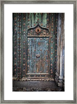 Old Door To Girona Cathedral Framed Print by Artur Bogacki
