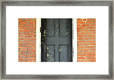 Old Door Framed Print by Zawhaus Photography