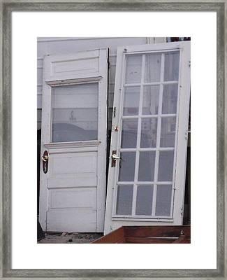 Old Doors Framed Print by Angela Christine
