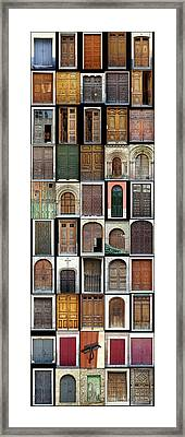 Framed Print featuring the photograph Old Doors by Frank Tschakert