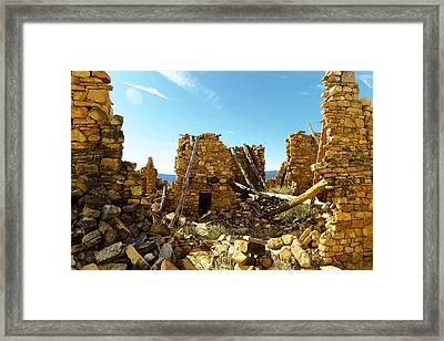 Old Doors Kinishba Ruins Framed Print by Jeff Swan
