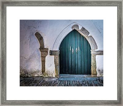 Old Doorway In Monsaraz Framed Print