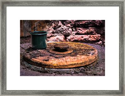 Old Drinking Cup Framed Print by Gary Keesler