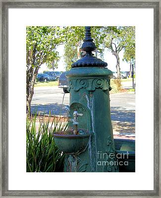 Old Drinking Fountain Framed Print by Barbara Oberholtzer