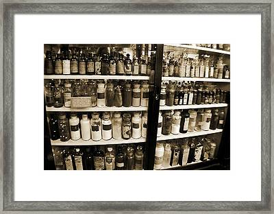Old Drug Store Goods Framed Print by DigiArt Diaries by Vicky B Fuller