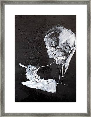 Old Eater Of Spaghetti Framed Print by Fabrizio Cassetta