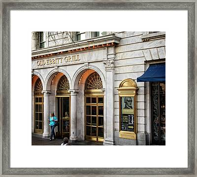 Framed Print featuring the photograph Old Ebbitt Grill by Chrystal Mimbs