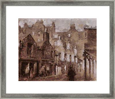Old Edinburgh Framed Print