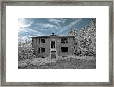 Old Edmonton High School Ir 2 Framed Print by Amber Flowers