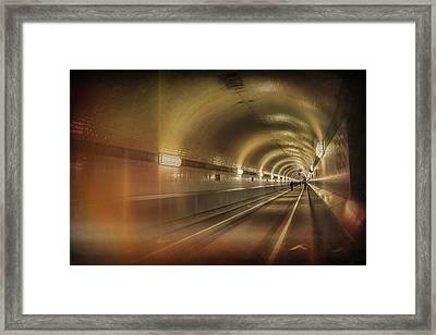 Old Elbe Tunnel Hamburg  Framed Print