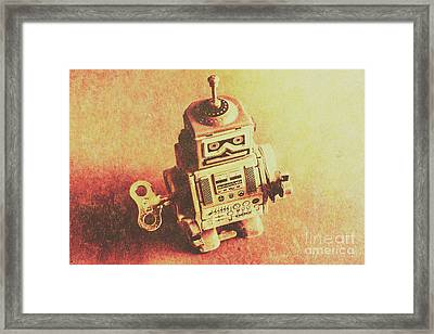 Old Electric Robot Framed Print