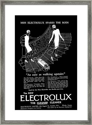 Old Electrolux Vacuum Cleaner Advert Framed Print by James Hill