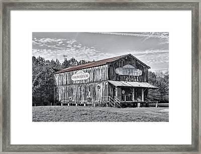 Old Emporium Store Framed Print