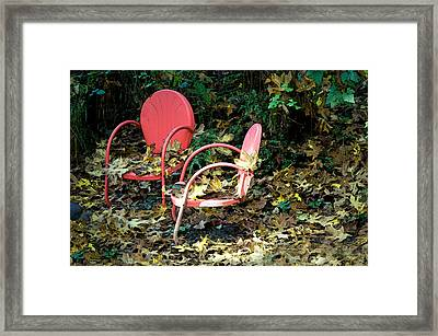 Framed Print featuring the photograph Old Empty Chairs by Gwyn Newcombe